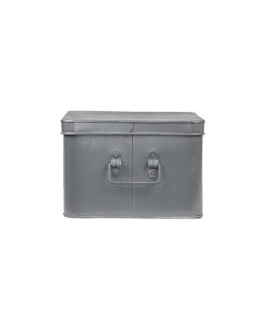 Kovový úložný box LABEL51 Media, šírka 35 cm
