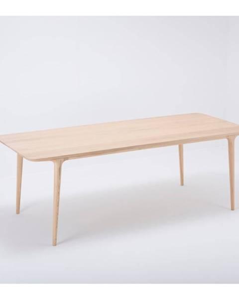 Gazzda Jedálenský stôl z masívneho dubového dreva Gazzda Fawn, 220×90cm