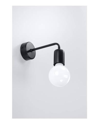 Čierne nástenné svietidlo Sollux Donato