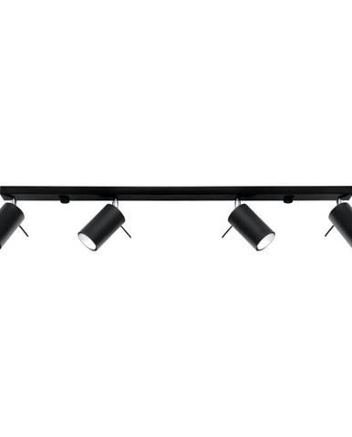 Čierne stropné svietidlo Sollux Etna 4L