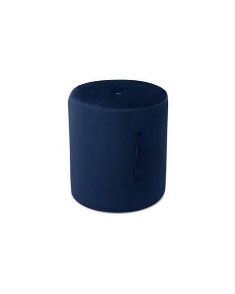 Mazzini Sofas Modrý puf Mazzini Sofas Fiore, ⌀ 40 cm