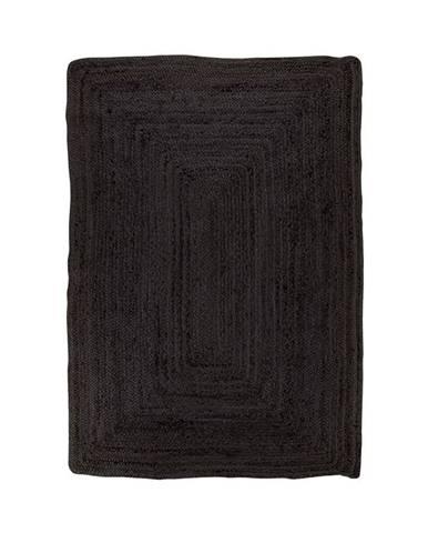 Čierny koberec HoNordic Bombay Rug, 135 x 65 cm