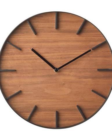 Nástenné hodiny YAMAZAKI RIn Oscuro, ⌀27cm
