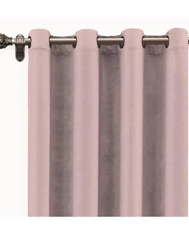 Ružový záves zo zamatu Velvet Atelier, 140x 260 cm