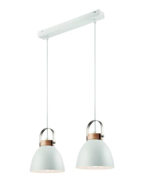 LAMKUR Biele závesné svietidlo pre 2 žiarovky Lamkur Danielle