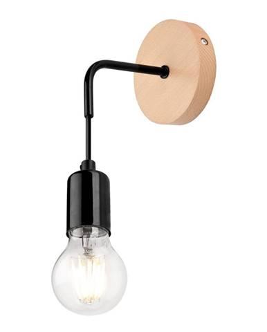 Čierna nástenná lampa Lamkur Orazio