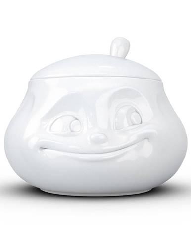 Biela usmievavá cukornička z porcelánu 58products
