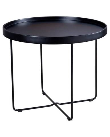 Čierny odkladací stolík sømcasa Dave