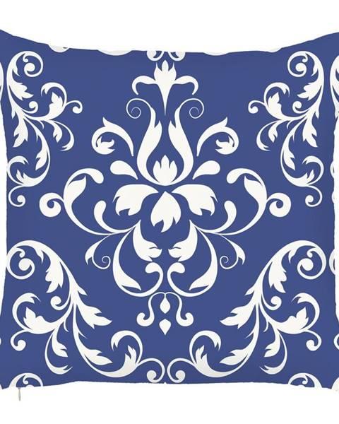 Apolena Modrá obliečka na vankúš Mike&Co.NEWYORK Ornament, 43 x 43 cm