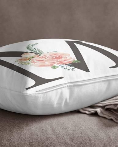Obliečka na vankúš Minimalist Cushion Covers Floral Alphabet M, 45 x 45 cm