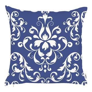 Modrá obliečka na vankúš Mike&Co.NEWYORK Ornament, 43 x 43 cm