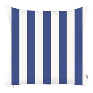 Modrá obliečka na vankúš Mike&Co.NEWYORK Sail Stripes, 43 x 43 cm