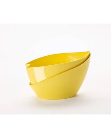 Žltý samozavlažovací kvetináč Plastia Doppio