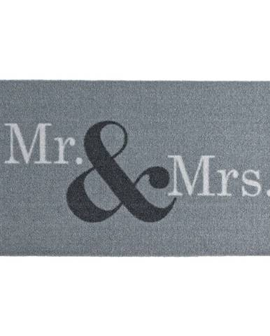 Sivá rohožka Zala Living Design Mr and Mrs, 50×70cm