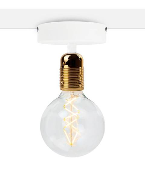 Bulb Attack Biele stropné svietidlo so zlatou objímkou Bulb Attack Uno Basic