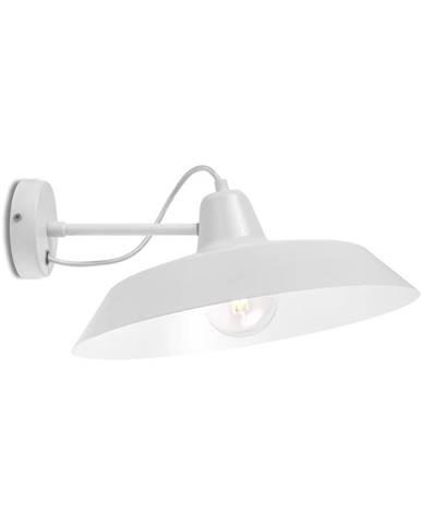 Biele nástenné svietidlo Bulb Attack Cinco Basic