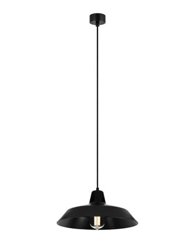 Čierne závesné svietidlo Bulb Attack Cinco, ∅ 35 cm