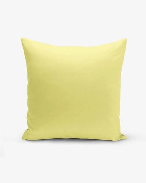 Minimalist Cushion Covers Žltá obliečka na vankúš s prímesou bavlny Minimalist Cushion Covers , 45×45 cm
