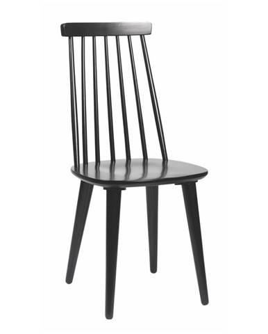 Čierna jedálenská stolička z dreva kaučukovníka Rowico Lotta