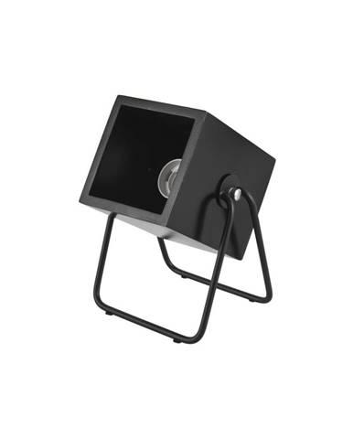 Čierna stolová lampa Leitmotiv Hefty Square
