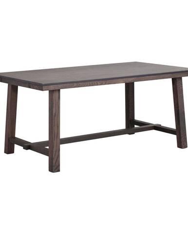 Tmavohnedý dubový jedálenský stôl Rowico Brooklyn, 170 x 95 cm