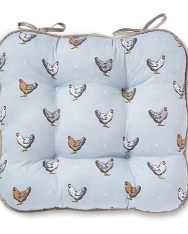 Modrý bavlnený vankúš na sedenie Cooksmart ® Farmers Kitchen