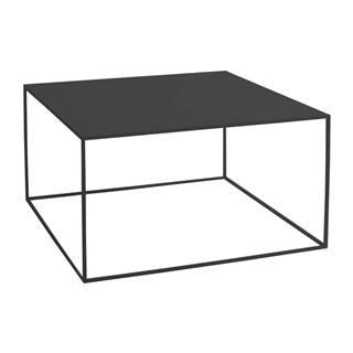 Čierny konferenčný stolík Custom Form Tensio, 80 × 80 cm