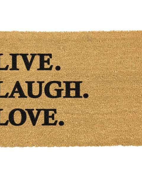 Artsy Doormats Rohožka z prírodného kokosového vlákna Artsy Doormats Live Laugh Love, 40 x 60 cm