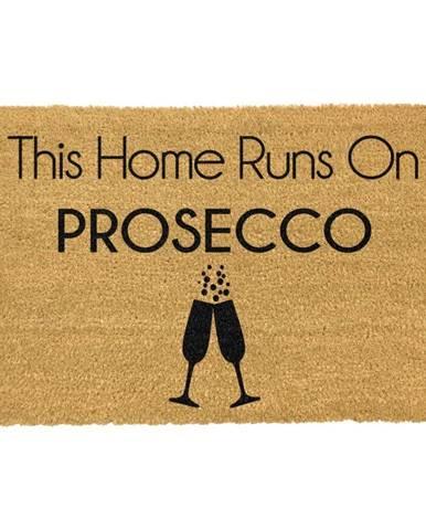 Rohožka z prírodného kokosového vlákna Artsy Doormats This Home Runs On Prosecco, 40 x 60 cm