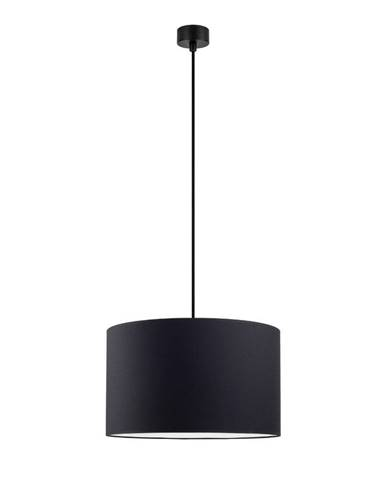 Čierne stropné svietidlo s čiernym káblom Sotto Luce Mika, ∅36 cm