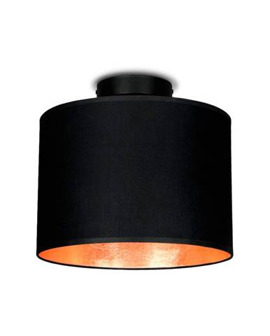 Čierne stropné svietidlo s detailom v medenej farbe Sotto Luce MIKA, Ø25 cm