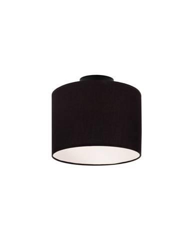 Čierne stropné svietidlo Sotto Luce MIKA, Ø25 cm