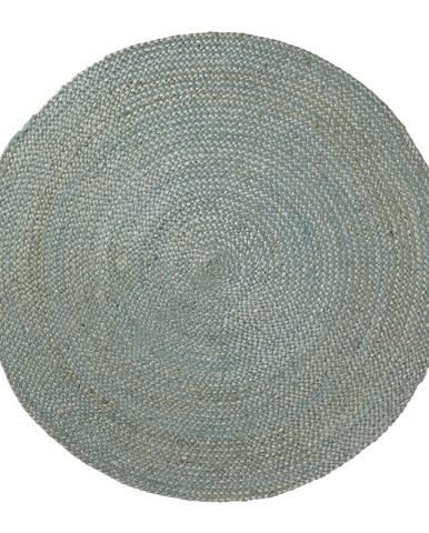 Modrý jutový koberec La Forma Dip, ⌀100cm