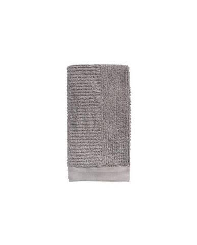 Sivohnedý bavlnený uterák Zone Classic, 50 × 100 cm