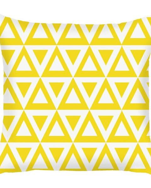 Apolena Žltá obliečka na vankúš Mike&Co.NEWYORK Triangle, 43 × 43 cm