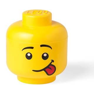 Žltý úložný box v tvare hlavy LEGO® Silly L