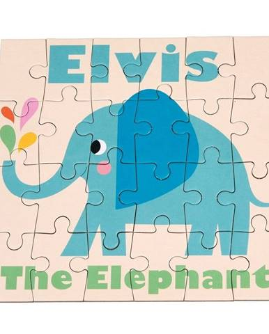 24-dielne puzzle Rex London Elvis The Elephant