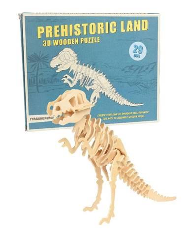 Drevené 3D puzzle dinosaurus Rex London Tyrannosaurus