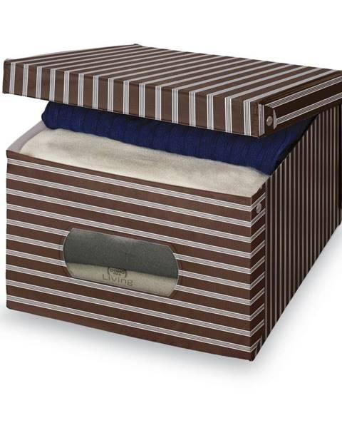 Domopak Hnedo-sivý úložný box Domopak Living, 24×50cm