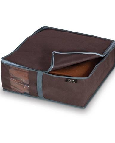 Hnedý úložný box na bielizeň Domopak Living, 15×45 cm