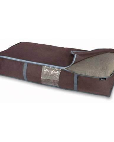 Hnedý úložný box na periny Domopak Living, 18 x 45 cm