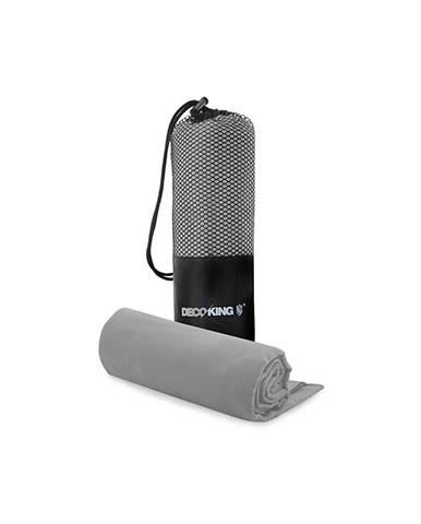 Set sivej rýchloschnúcej osušky a uteráku DecoKing EKEA, 70 × 140 cm + 30 × 50 cm
