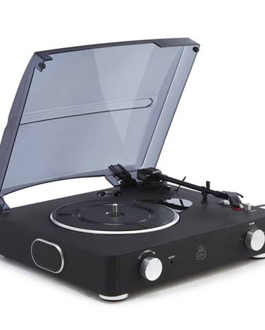 Čierny gramofón GPO Stylo II Black
