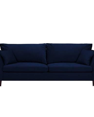 Modrá rozkladacia pohovka s úložným priestorom Mazzini Sofas Pivoine