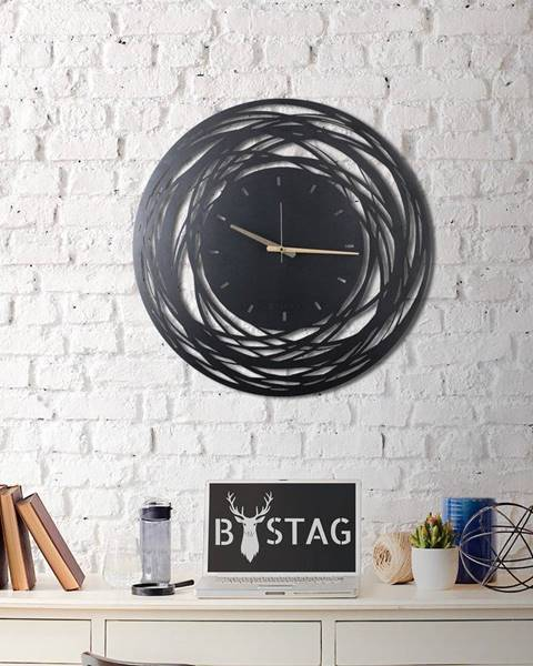 Bystag Nástenné kovové hodiny Ball, 70×70 cm