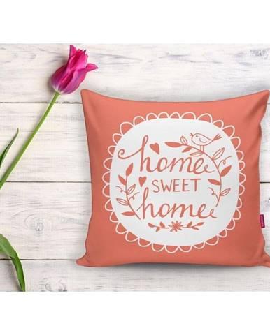 Oranžová obliečka na vankúš Minimalist Cushion Covers Home Sweet Home, 45 x 45 cm
