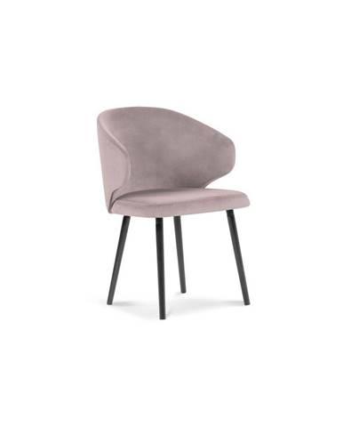 Púdrovoružová jedálenská stolička so zamatovým poťahom Windsor & Co Sofas Nemesis