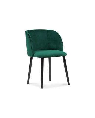 Tmavozelená jedálenská stolička so zamatovým poťahom Windsor & Co Sofas Aurora