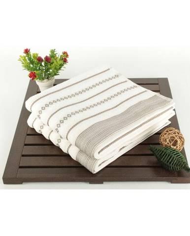 Sada 2 krémových uterákov Patricia Bombeli, 50x90cm