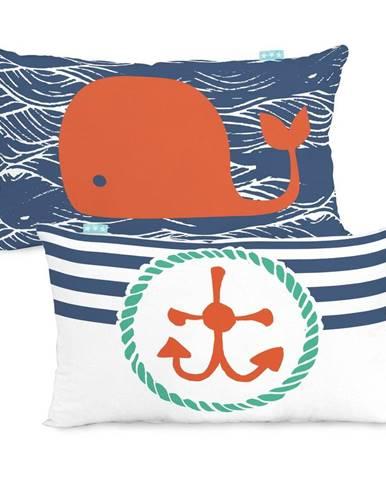 Bavlnená obojstranná obliečka na vankúš Moshi Moshi Ahoy There, 50×30cm